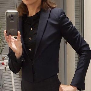 Rag and Bone cropped black blazer size 2